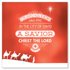 Luke 2 Christmas Window Banner