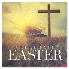Celebrate Easter Cross Window Banner