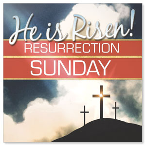 Risen Resurrection Window Banners