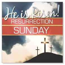 Risen Resurrection Window Banner