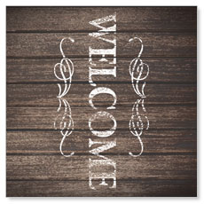Rustic Charm Welcome Window Banner