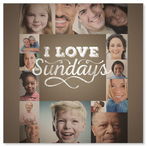 I Love Sundays  Window Banners
