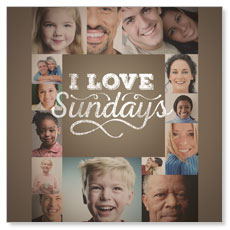 I Love Sundays Window Banner