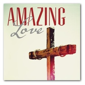 Amazing Love Cross Window Banners