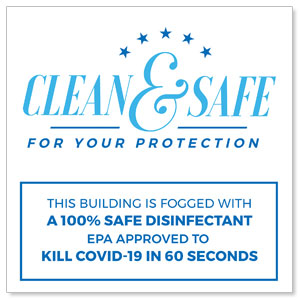 Clean and Safe For Your Protection Window Banners