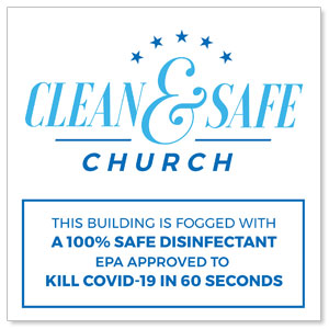 Clean and Safe Church Window Banners