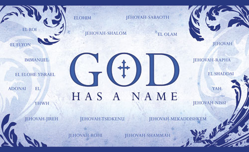 Church Banner - Names of God 5u0026#39; x 8u0026#39; - Outreach Marketing
