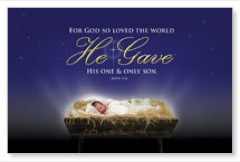 John 3:16 Christmas Banner - Church Banners - Outreach Marketing