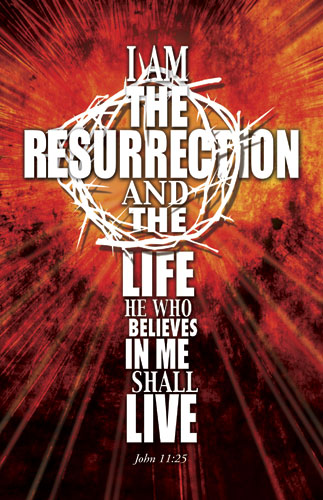 I Am The Resurrection Banner Church Banners Outreach