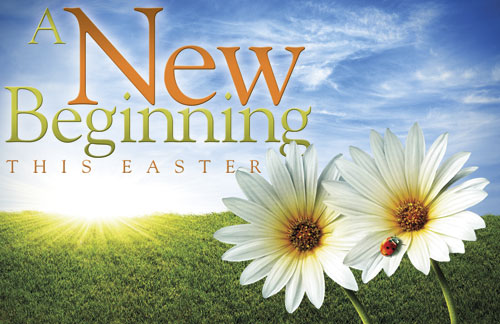 Easter New Beginnings Banner Church Banners Outreach