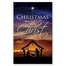 Christmas Begins Christ WallBanners