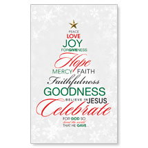 Christmas Word Tree WallBanners