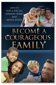 Courageous Family Blue WallBanners