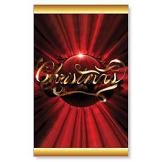 Christmas Red Ornament Banner