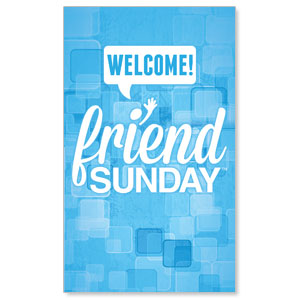 Friend Sunday Welcome WallBanners