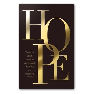 Gold Letters Hope WallBanners