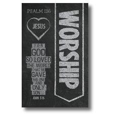 Chalkboard Art Worship Banner