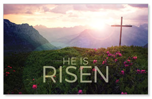 He Is Risen Mountain WallBanners
