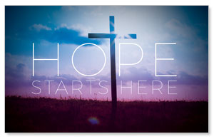 Hope Starts Here WallBanners