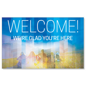 Modern Mosaic Welcome WallBanners