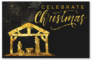 Black and Gold Nativity WallBanners