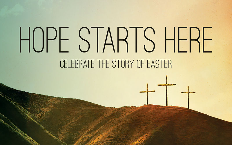 Banners, Easter, Hope Starts Here Calvary, 5' x 8'