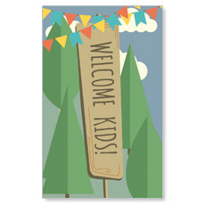 Woodland Friends Welcome Banner