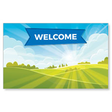 Bright Meadow Welcome Banner