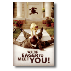 Eager Personalized Postcard