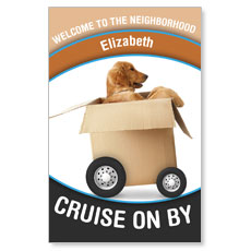 WelcomeOne Dog on Wheels New Mover Card
