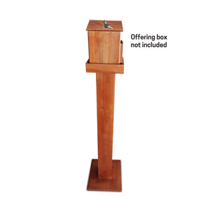 Wood Stand for Offering Box - Oak Brown Signs and Stands