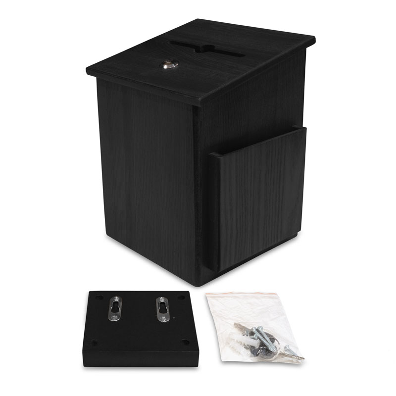 Safety Products, Safety, Wood Offering Box - Black