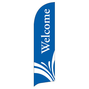 Welcome Blue Flag Banners