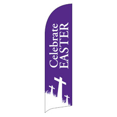 Easter Purple Flag Banner