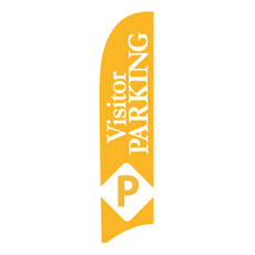 Visitor Parking Flag Banner