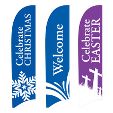 Holiday Flag Banner Set Banner
