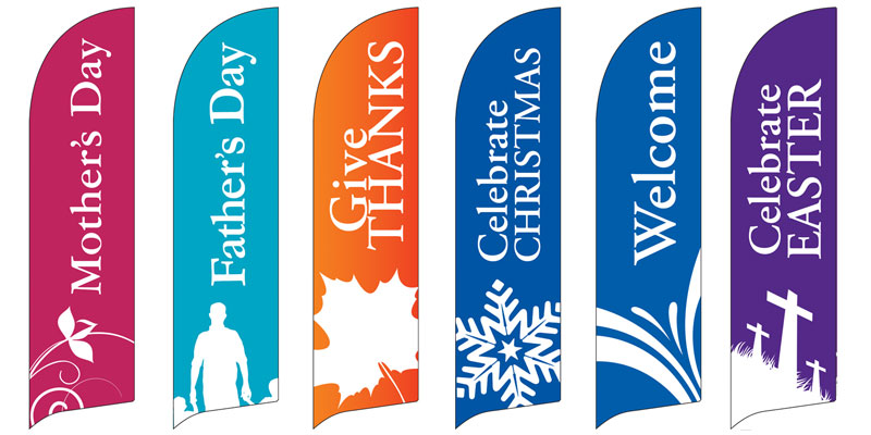 Special Sunday Flag Banner Set Banner Church Banners