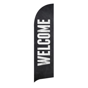 Slate Welcome Flag Banner Flag Banner
