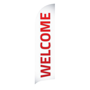 Pin Stripe Welcome Flag Banner Flag Banner
