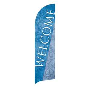Cross Welcome Flag Banner Flag Banner