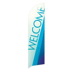 Color Rays Welcome Flag Banner Flag Banner