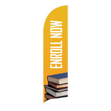 Enroll Now Flag Banner Banner