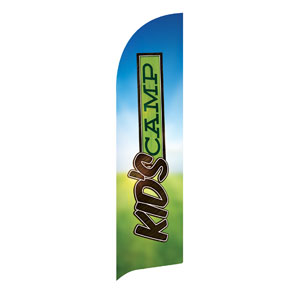 Blue Sky Kids Camp Flag Banner