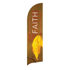 Fall Discover Faith Flag Banner