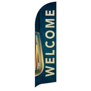 Retro Light Welcome Flag Banner