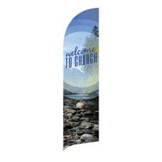 Season Welcome Mountain Banner