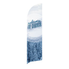 Season Welcome Snow Banner