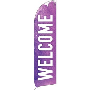 Brush Stroke Welcome Flag Banner