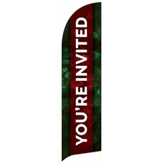 Pine Greenery You're Invited Banner