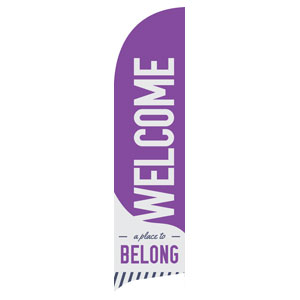 To Belong Purple Flag Banner